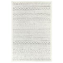 Liora Manne Rialto Tribal Stripe Indoor/Outdoor Rug, IVORY