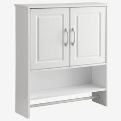Bathroom 2-Door Wall Cabinet, WHITE