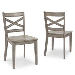 Mountain Lodge Gray Chair, Un-Uph (2 per carton), DARK GRAY