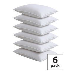 Fresh Ideas Master Block Easy Care Pillow Protector 6-Pack, WHITE