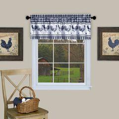 Barnyard Window Curtain Valance - 58x14, NAVY