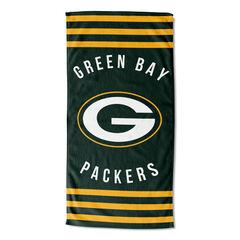 Packers Stripes Beach Towel, MULTI