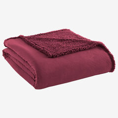Micro Flannel® Reverse to Sherpa Blanket, WINE