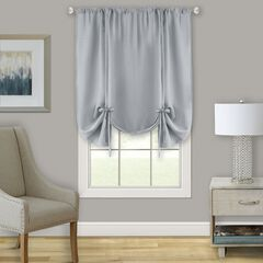 Darcy Window Curtain Tie Up Shade - 58x63, GREY