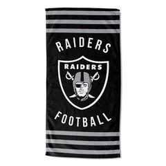 Raiders Stripes Beach Towel, MULTI