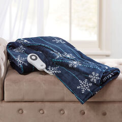 Faux Fur Electric Warming Throw by Serta, SNOWFLAKE