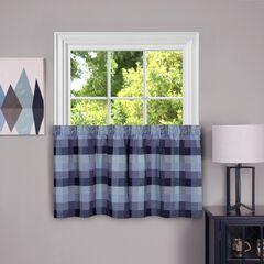 Harvard Window Curtain Tier Pair, BLUE
