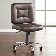 Big and Tall Armless Office Chair, BROWN