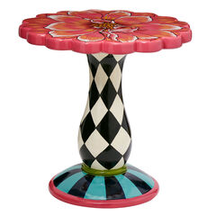 Exclusive Hand-Painted Flower Side Table, MULTI