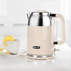 Kalorik 1.7 Liter Retro Electric Kettle, CREAM