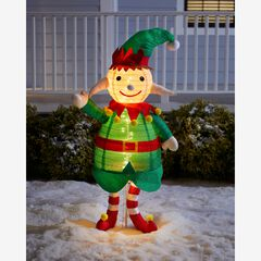 "48""H Pre-Lit Pop-Up Elf,"