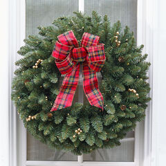 Large Pre-Lit Double-Sided Wreath, GREEN