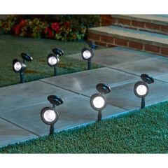 Set of 6 Solar Spot Lights, BLACK