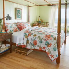 Coastal 3-Pc. Quilt Set, CORAL MULTI