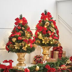 """24""""H Tabletop Christmas Tree , RED"""