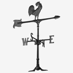 "30"" Rooster Accent Weathervane, BLACK"