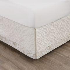 Coastal Seashell Ivory Bed Skirt 18-inch, IVORY