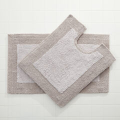 BH Studio 2-Pc. Bath Rug Set, SILVER