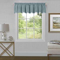 "Wallace Window Curtain Valance 52"" x 14"", AQUA"