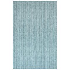 Liora Manne Carmel Texture Stripe Indoor/Outdoor Rug, AQUA