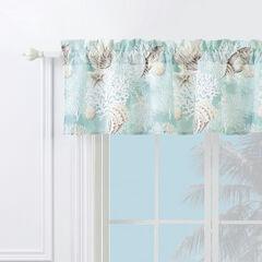 Ocean Turquoise Window Valance, TURQUOISE