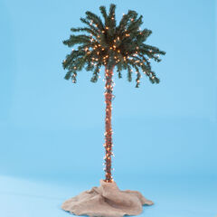 3-D Pre-Lit Palm Tree, LED