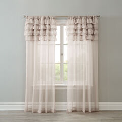 BH Studio Sheer Voile Ruffle Panel, ECRU