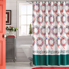 13-Pc. Holiday Shower Curtains, HOLIDAY WREATH