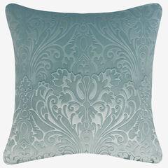 Embossed Panne Velvet Decorative Pillow, DUCK EGG