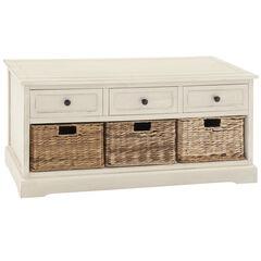 White Traditional Wood Storage Unit, 20 x 42, WHITE