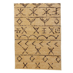 Moroccan Rug, BEIGE BROWN