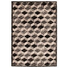 Liora Manne Fresco Cubes Indoor/Outdoor Rug, SILVER