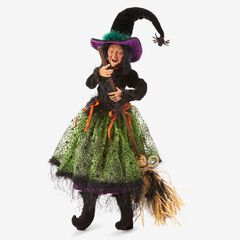 """30""""H Posable Witches, BROOM"""