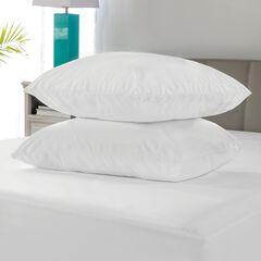 SensorPEDIC Microshield Water Repellent Pillow Protector Pair, WHITE