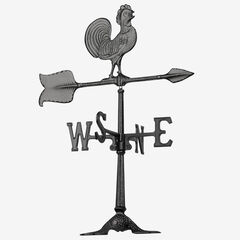 Rooster Accent Weathervane, BLACK