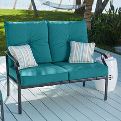 Hampton Bay Deep Seating Loveseat, TEAL