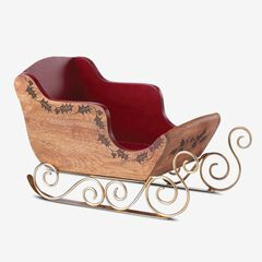 Lenox® Hosting The Holidays™ Sleigh Serving Centerpiece, WOOD RED GOLD