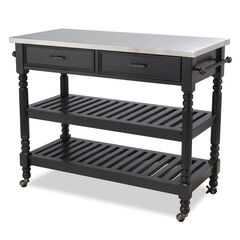 Savannah Kitchen Cart, BLACK