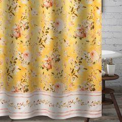 Finley Yellow Bath Shower Curtain, YELLOW