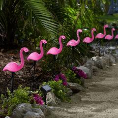 Flamingo Solar Stake Lights, Set of 10, MULTI