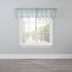 Willow Scalloped Valance, GREEN