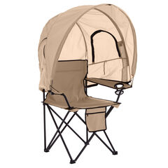 Camp Chair with Canopy, TAUPE