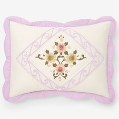 Ava Embroidered Cotton Sham, LILAC