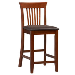 "Triena Collection Craftsman Center Stool, 24""H, DARK CHERRY"