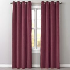 BH Studio Velvet Grommet Panel, WINE