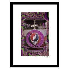 Grateful Dead Psychedelic - Purple / Green - 14x18 Framed Print, PURPLE GREEN