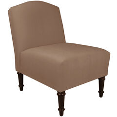 Ashburn Camel Back Chair, VELVET COCOA