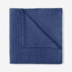 BH Studio Primrose Cotton Throw, DENIM