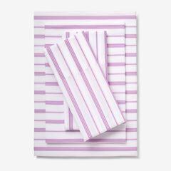 Bed Tite™ Gingham & Stripe Sheet Set, LILAC STRIPE