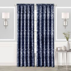 Charlotte Rod Pocket Window Curtain Panel, NAVY